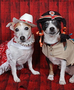 Cowgirl and Indian Sidekick Homemade Dog's Costume