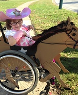 Cowgirl Riding her Horse Homemade Costume