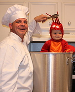 DIY matching costumes for babies and parents - Crawfish Baby Halloween Costume