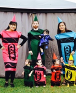 Crayola Family Homemade Costume