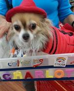 Crayon Dog Homemade Costume