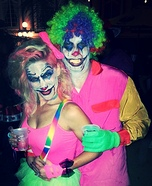 Creepy Clowns Couple Homemade Costume