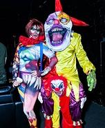 Creepy Clowns Couple Homemade Costume