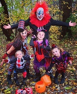 Creepy Clowns with no frowns Homemade Costume