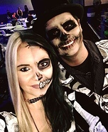 Creepy Skeleton Couple Homemade Costume
