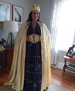 Crown Royal Gown with Cape Homemade Costume
