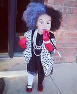 DIY baby costume ideas: Cruella de Vil Baby Costume