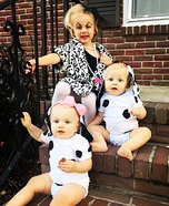 Cruella and her Puppies Homemade Costume