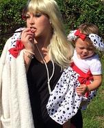 Cruella and one Dalmatian Homemade Costume