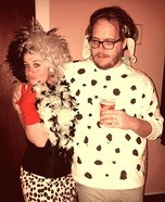 Cruella and one of the 101 Dalmatians Costume for Couples