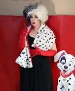Cruella de Vil Homemade Costume