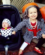 Cruella de Vil and Dalmatian Puppy Homemade Costume