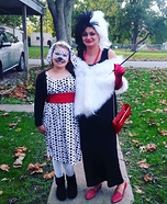 Cruella de Vil and Dalmation Homemade Costume