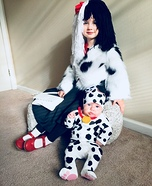 Cruella De Vil and Dalmation Puppy Homemade Costume