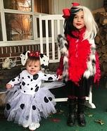 Cruella de Vil and her Pup Homemade Costume