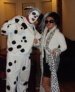 Homemade Cruella De Vil & Spot Costume