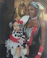 Cruella De Ville and Baby Dalmatian Homemade Costume