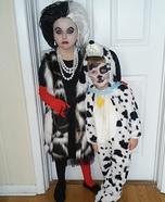 Cruella De Ville and her Dalmatian Costume