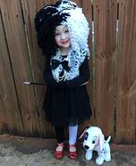DIY Girl's Cruella Deville Costume