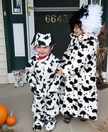 Cruella Deville and Dalmatians Homemade Costume