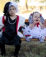 Cruella Deville and Puppy Homemade Costume