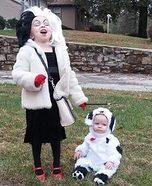 Cruella Deville and the Dalmation Homemade Costume