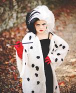 Cruella Deville Girl Homemade Costume