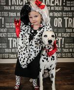 Cruella Deville & Dalmatian Homemade Costume