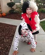 Cruella DeVille & her Dalmatian Homemade Costume