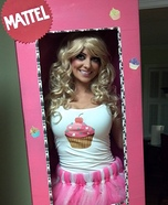 Cupcake Barbie in a Box Homemade Costume