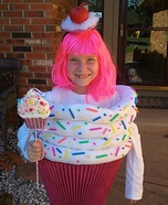 Cupcake Girl Homemade Costume