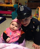 Cupcake & Police Officer Homemade Costume