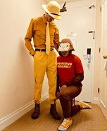 Curios George & The Man In The Yellow Hat Homemade Costume