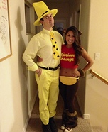 Coolest couples Halloween costumes - Curious George and The Man in the Yellow Hat