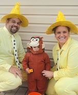 Curious George and the Man in the Yellow Hat Family Costume