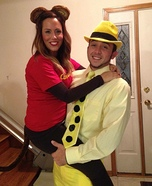 Curious George and the Man in Yellow Suit Homemade Costume