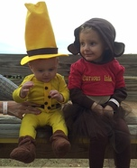Curious George & Man in Yellow Hat Homemade Costume