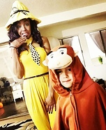 Curious George & The Woman in the Yellow Hat Homemade Costume