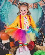 Cute Clown Homemade Costume