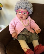 Cute Grandma Baby Costume