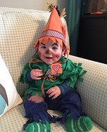 Cutest Scarecrow Baby Halloween Costume