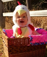 Cutest Chick in the Coop Homemade Costume