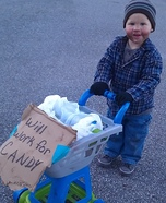 Homemade Baby Hobo Costume
