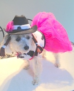 Cutie Patootie Cowgirl Homemade Dog Costume