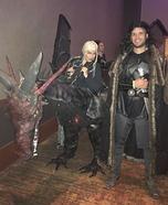 Daenerys riding Dragon & Jon Snow Homemade Costume