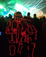 Daft Punk EL Wire Suit Costume