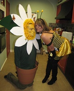 Couples Halloween costume idea: Daisy and Bee homemade costume