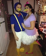 Daisy and Donald Homemade Costume