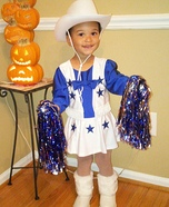 Dallas Cowboy Cheerleader Baby Halloween Costume