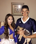 Dallas Cowboys Cheerleader and Football Player Homemade Costume